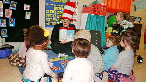 Students at the UAH Early Learning Center