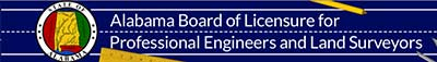 Logo for Alabama Board of Licensure for Professional Engineers and Land Surveyors