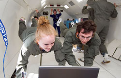 Students in Zero Gravity