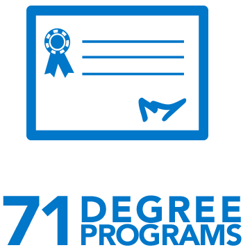 38 undergraduate degrees offered