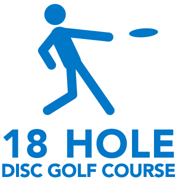 18-hole disc golf course on campus
