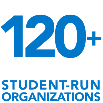Over 120 student-run organizations