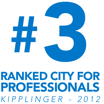#3 ranked city for professionals - Kipplinger - 2012