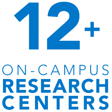 More than a dozen on-campus research centers