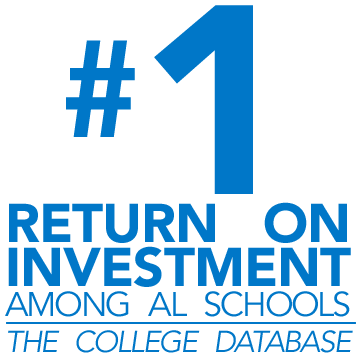#1 return on investment among Alabama schools