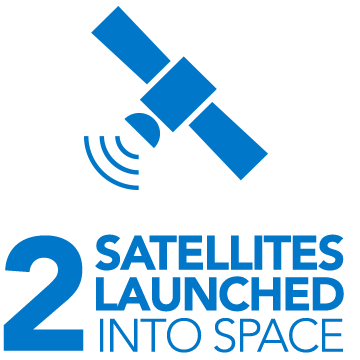 2 satellites launched into space