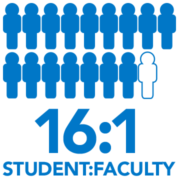 16:1 student to faculty ratio