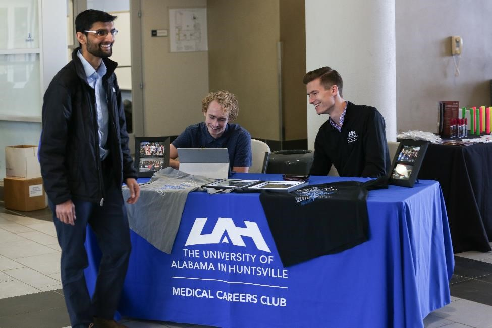 Picture of the Medical Careers Club table during Health Careers Day