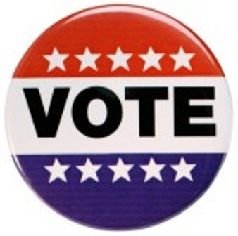 Vote Button clip art 1