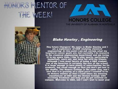 Honors Mentor of the Week Blake HAwley2