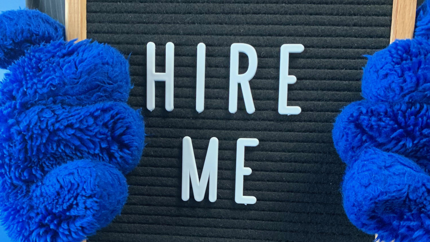 Hire Me Sign