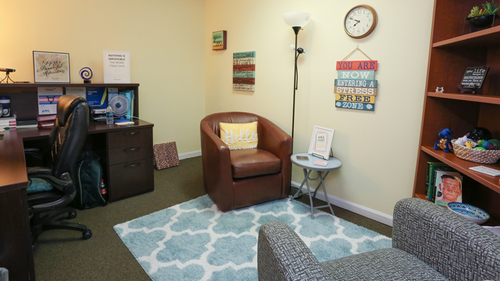 UAH counseling center wellness room