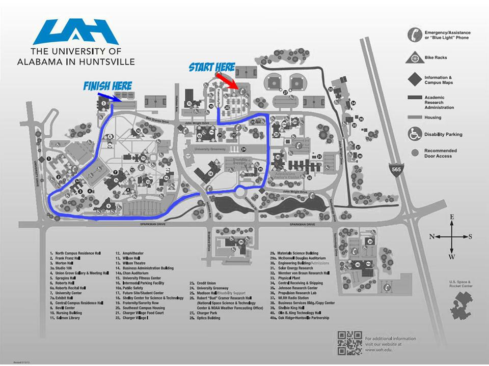 Campus Map - Parade Route