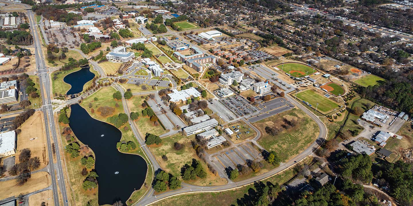 Aerial view of UAH Campus