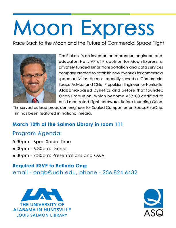 Moon Express flyer student version with agenda