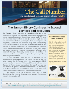 the call number fall 2019v2