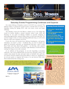 the call number spring 2019
