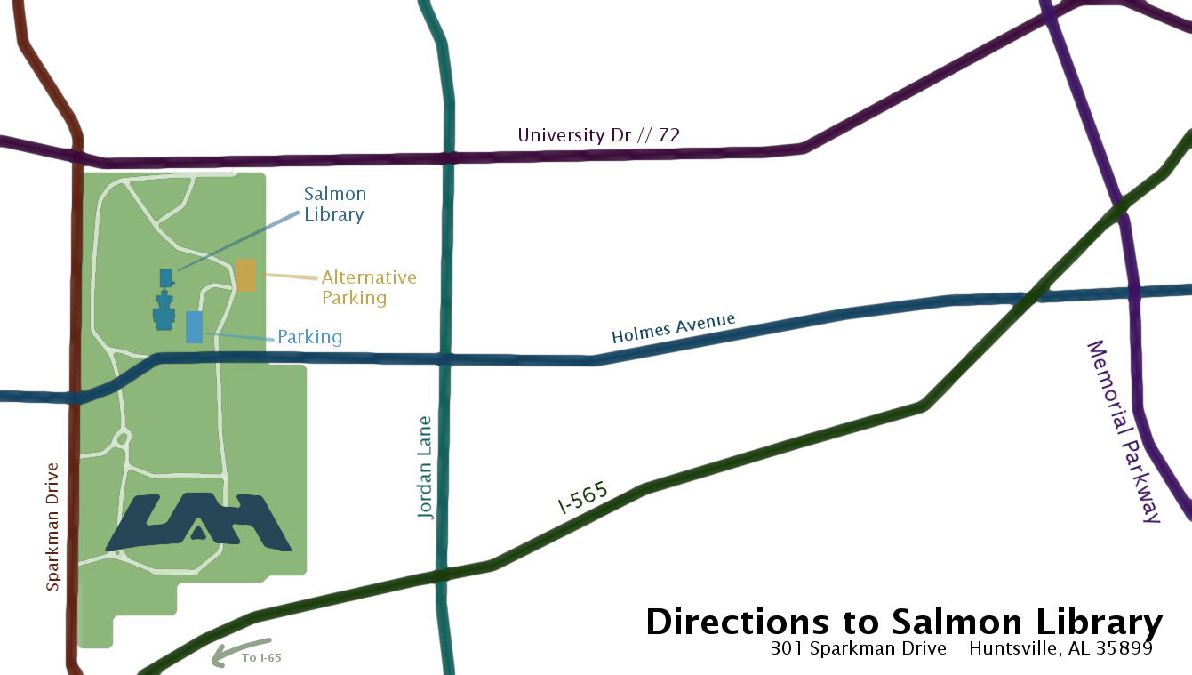 picture showing directions to Salmon Library
