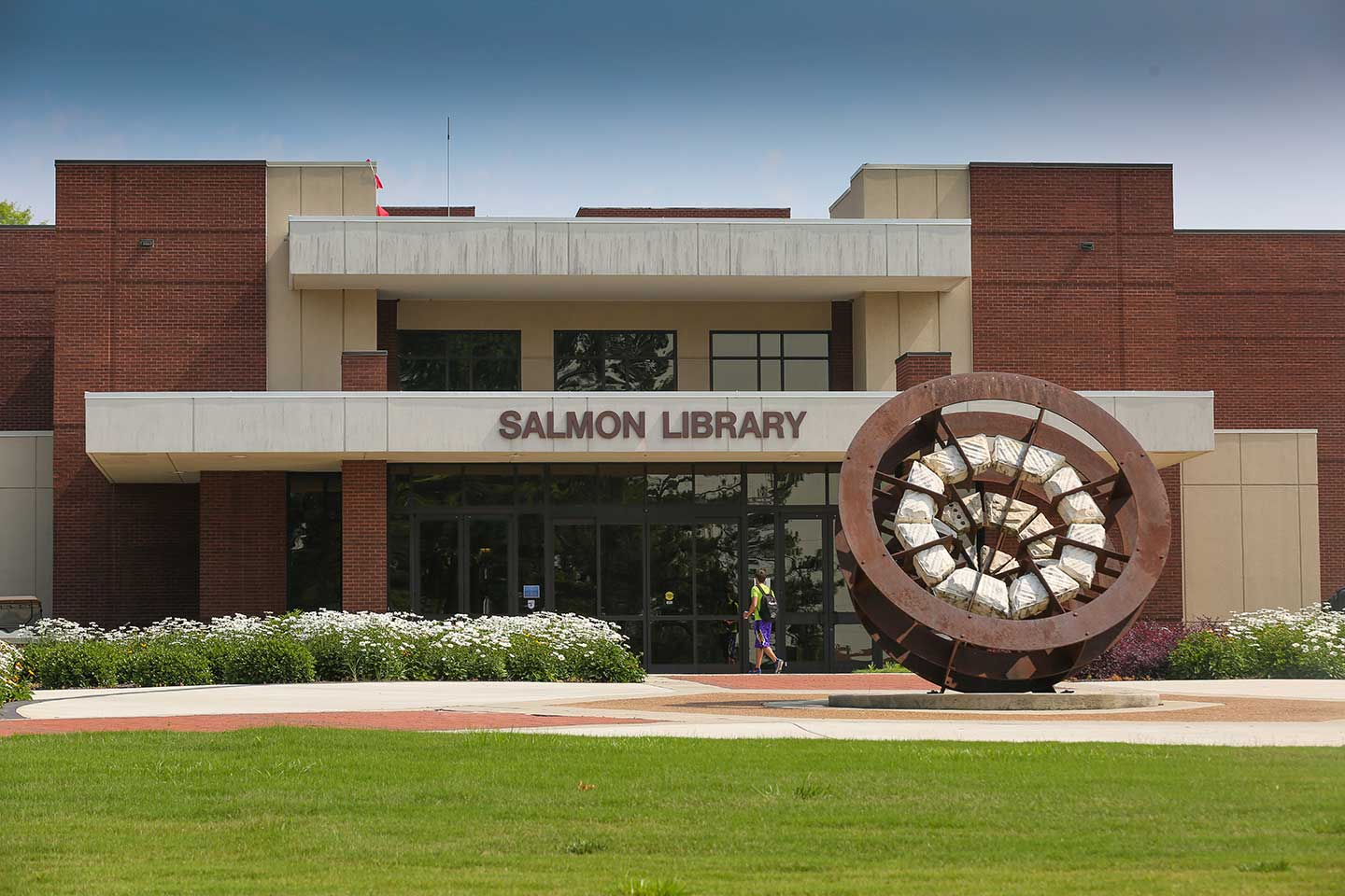 Entrance to the Salmon Library.