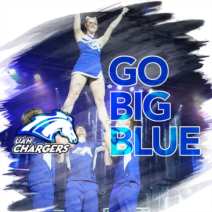 UAH cheerleaders - Go Big Blue