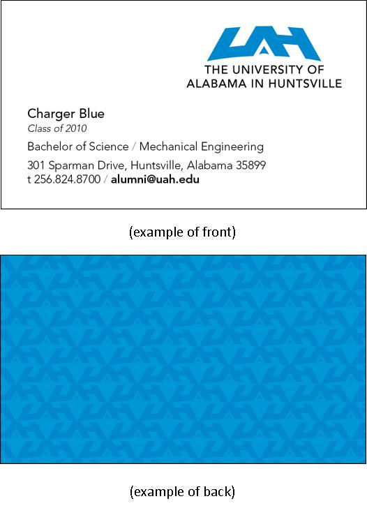Alumni Business Cards example