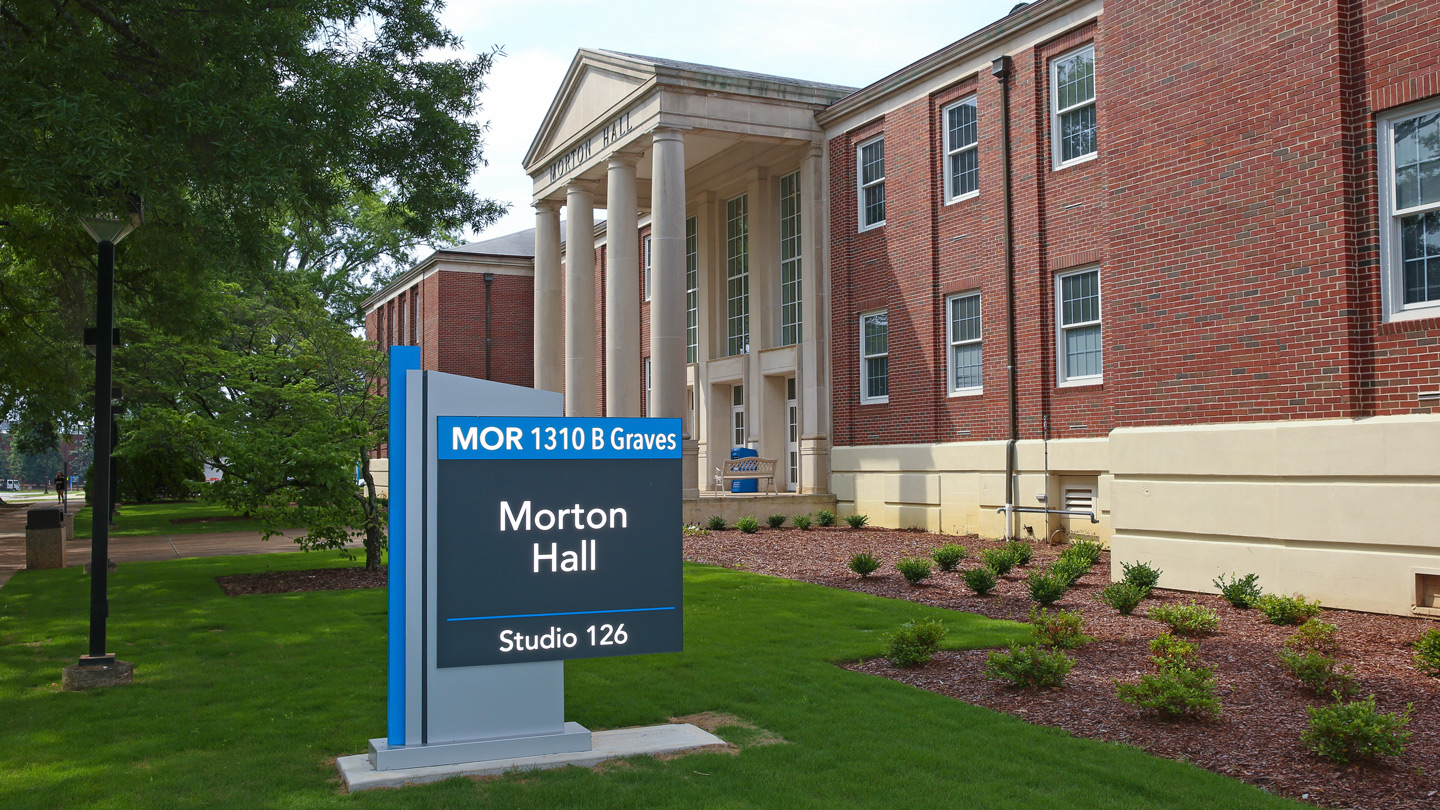 morton hall sign