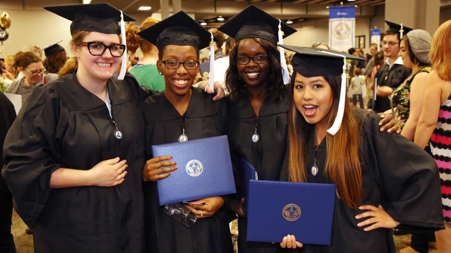Graduates on Commencement
