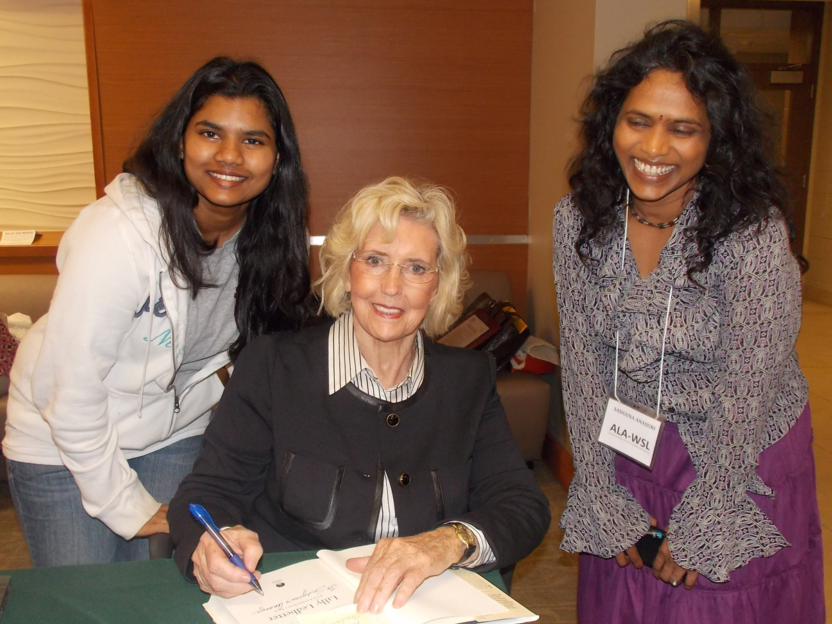 lilly ledbetter with students