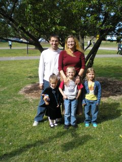 Veronica Ferreira with her husband and three kids.