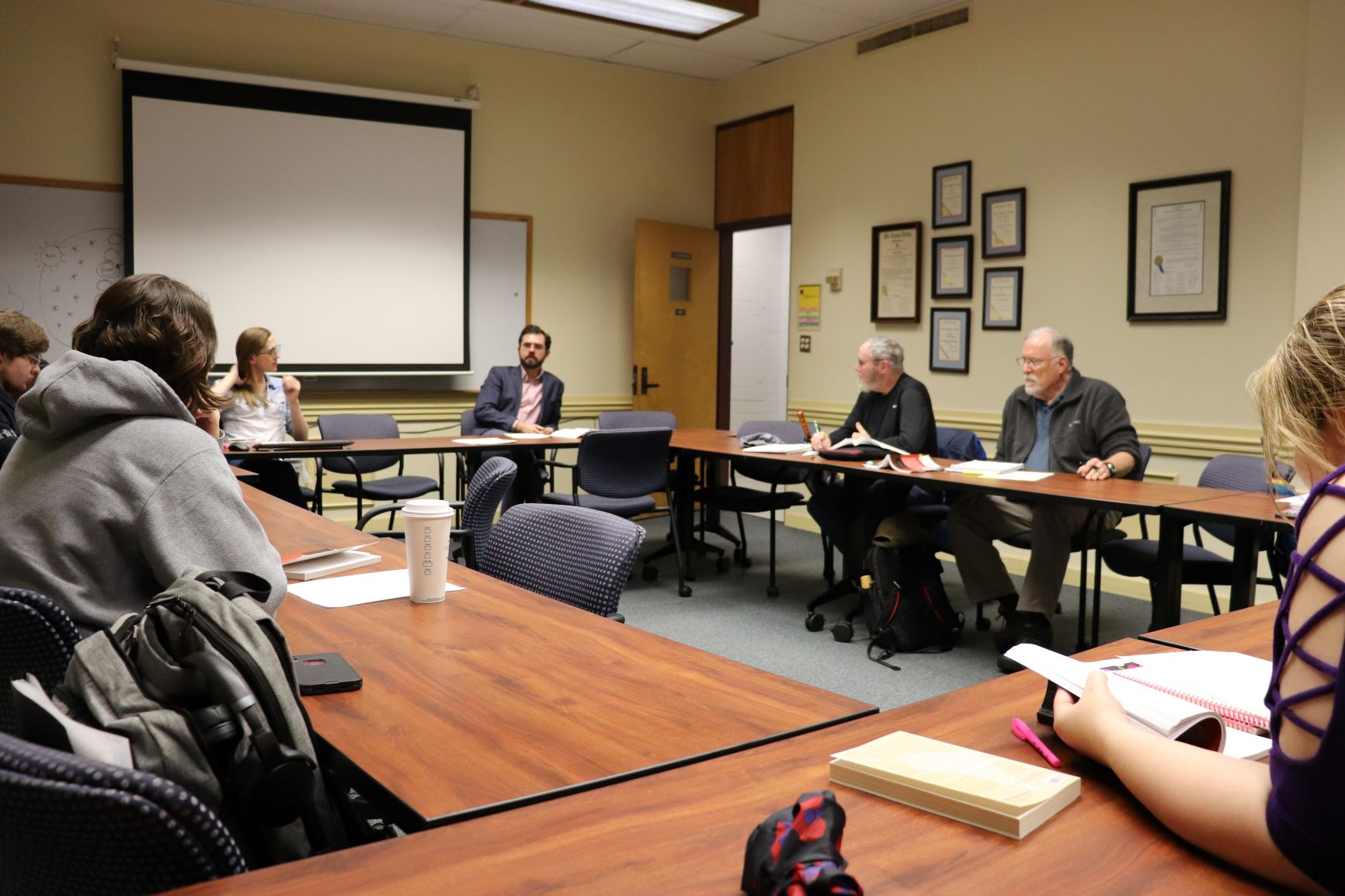 history graduate students at a roundtable