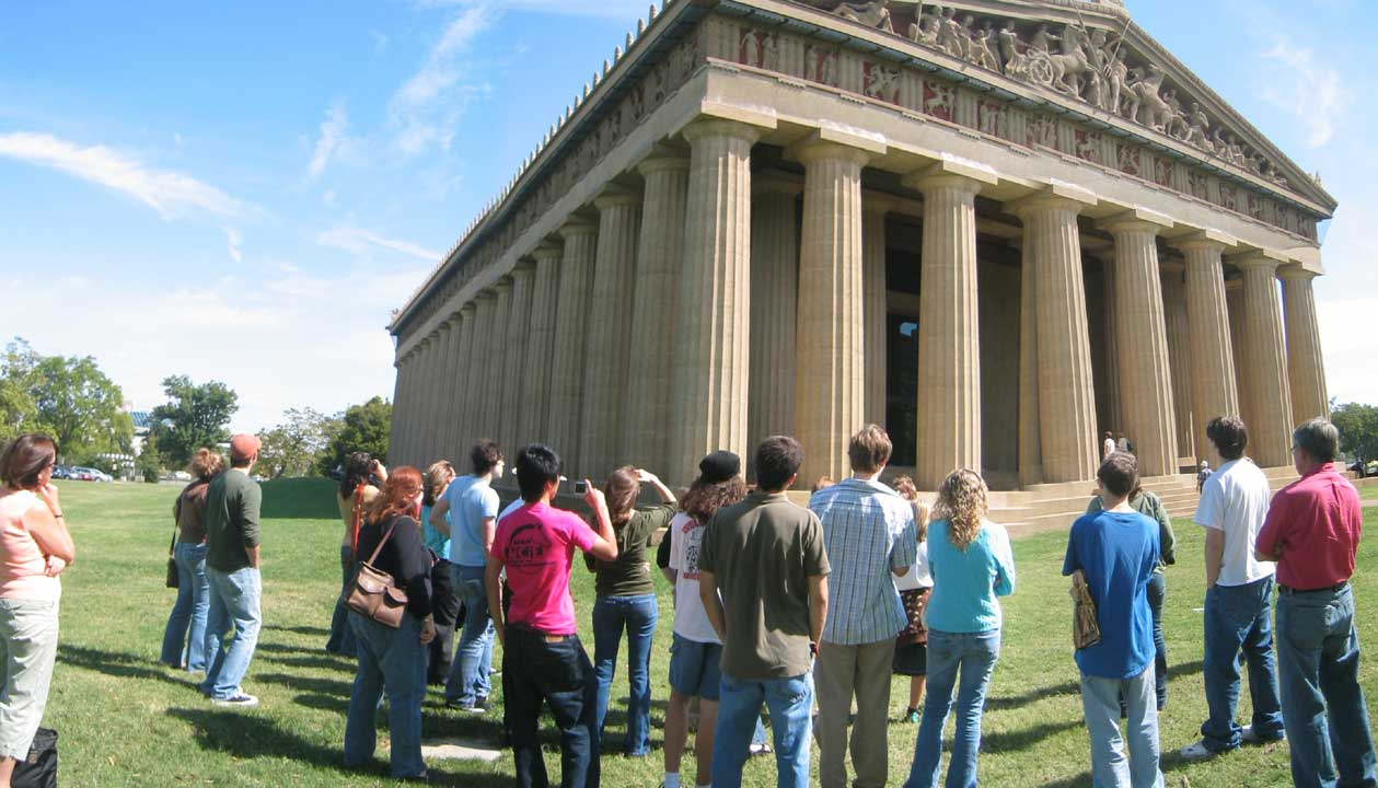 Students at Parthenon
