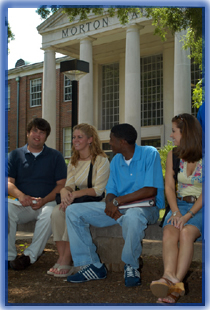 Students outside Morton Hall.
