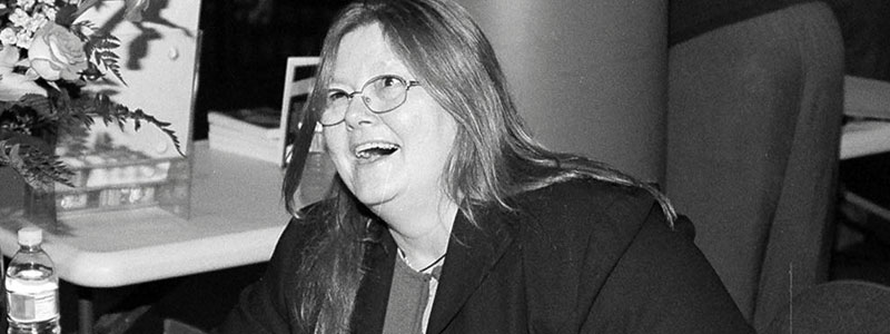 Dorothy Allison laughing