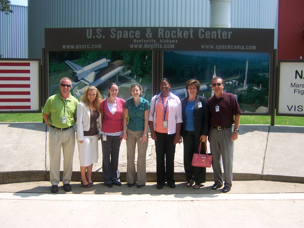 Group outside U.S. Space and Rocket Center