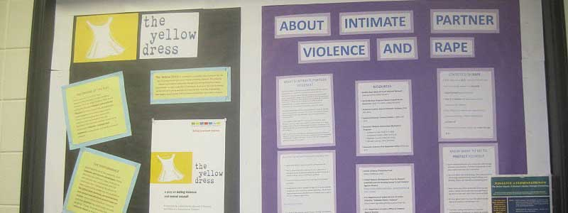 "Bulletin Board for ""The Yellow Dress"" and ""About Intimate Partner Violence and Rape"""