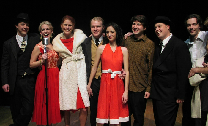 Red Scare on Sunset Cast on NY stage