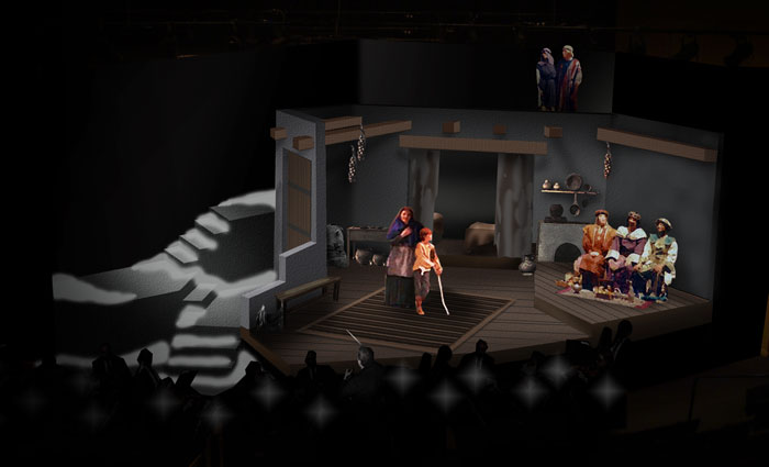 Amahl and the Night Visitors - Set Rendering