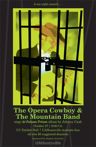 The Opera Cowboy & The Mountain Band Poster