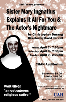 Sister Mary Ingnatius Explains It All For You & The Actor's Nightmare Poster