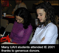 UAH student at IE 2001.