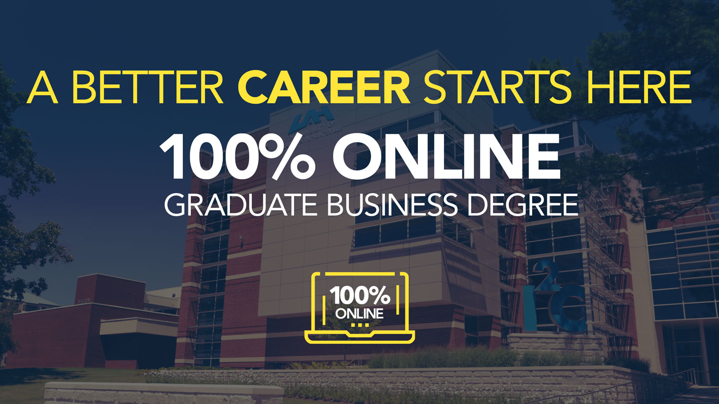 UAH online business masters degree page header