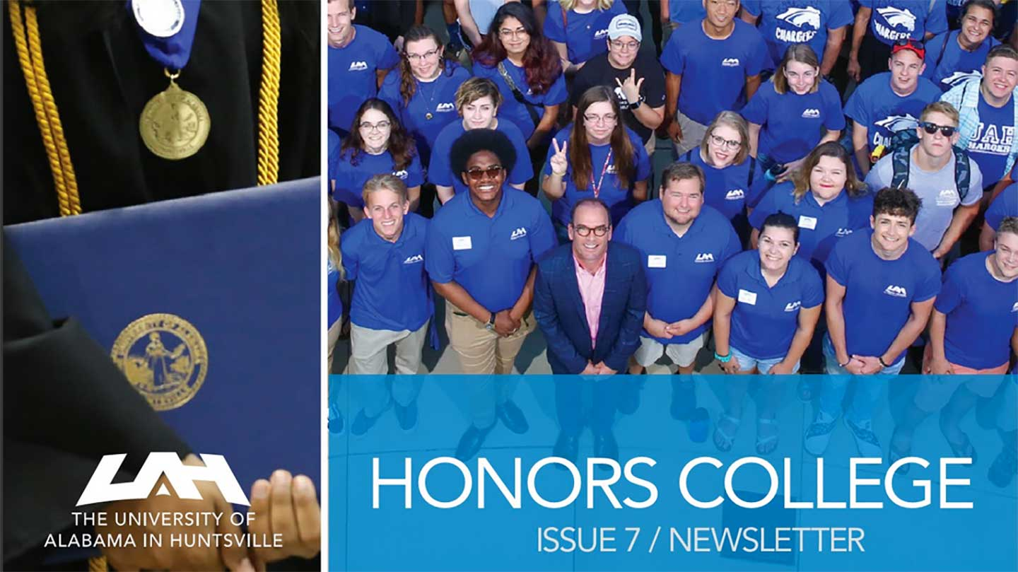 group photo of honors students - issue 7 cover of new newsletter