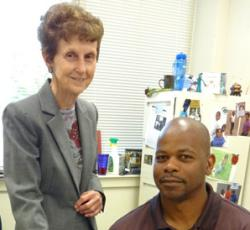 Dr. Peggy Hays, left, and Dr. Sampson Gholston