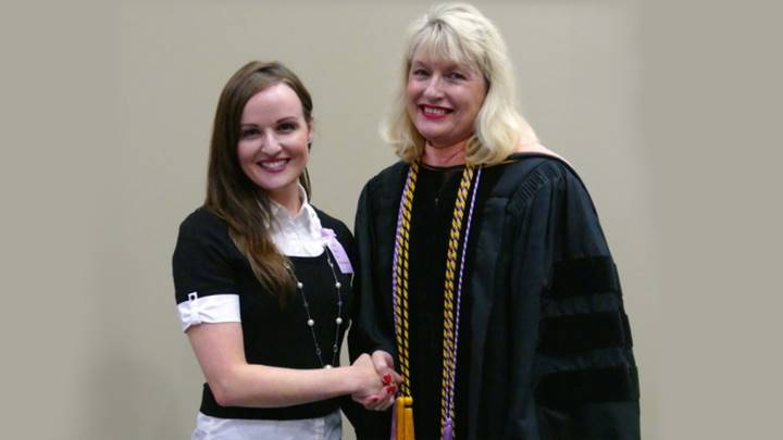 Kelly Baugher:  Recipient of the Dean's Award.