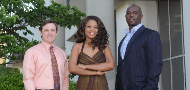 L to R: Aaron Ludwick, LaToya Patterson and James Dorsey