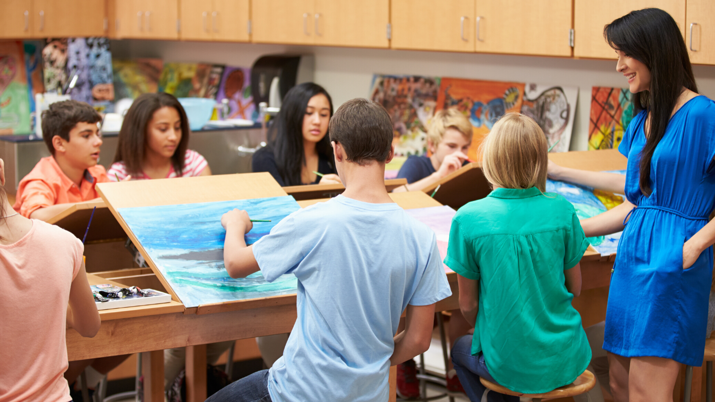 Art Classroom Example Middle School