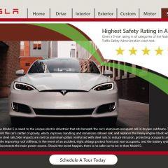 Kalynn Robinson | Tesla Website Design (Mockup Only)