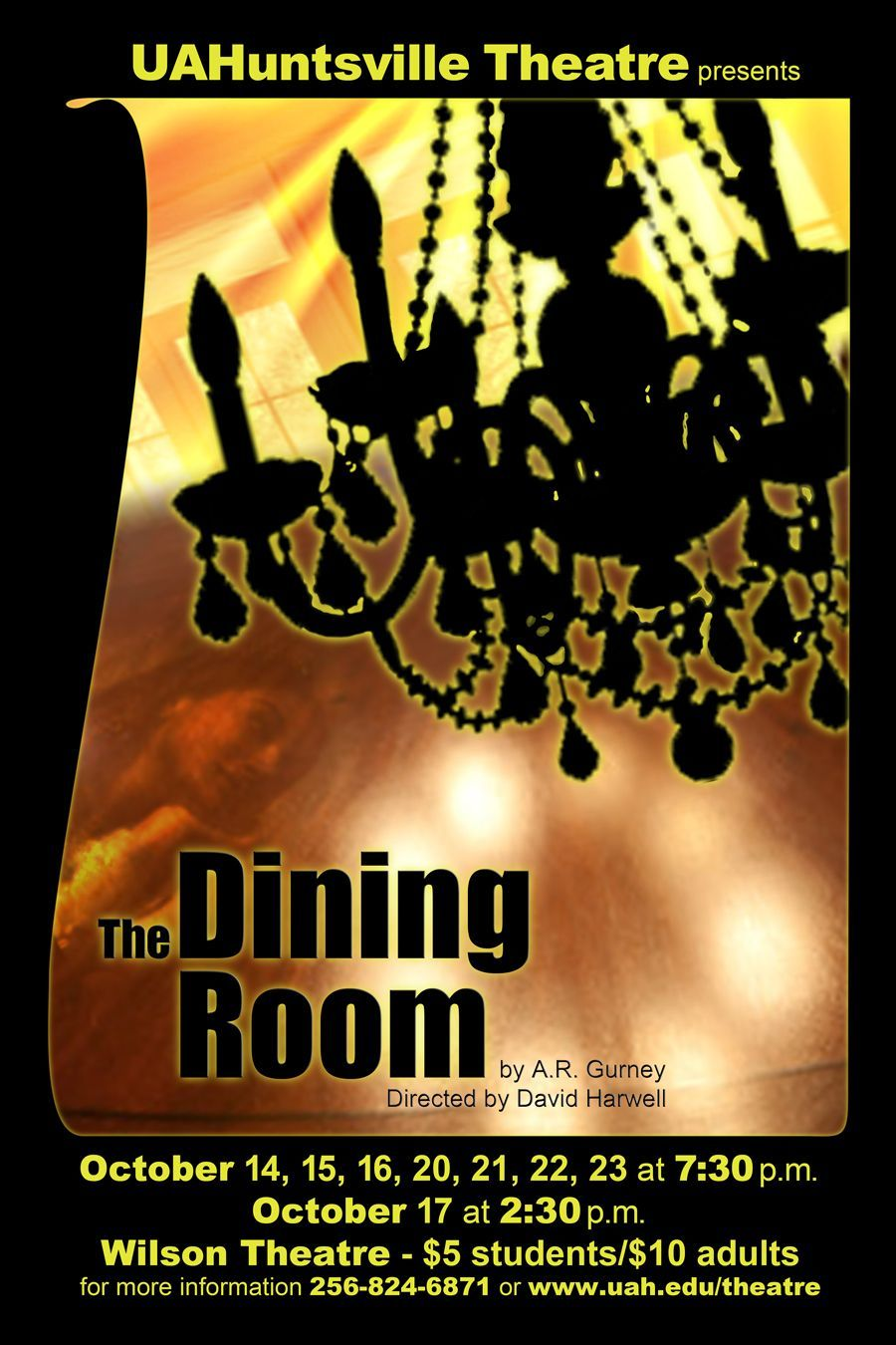 an analysis of the scene from the dining room by a r gurney