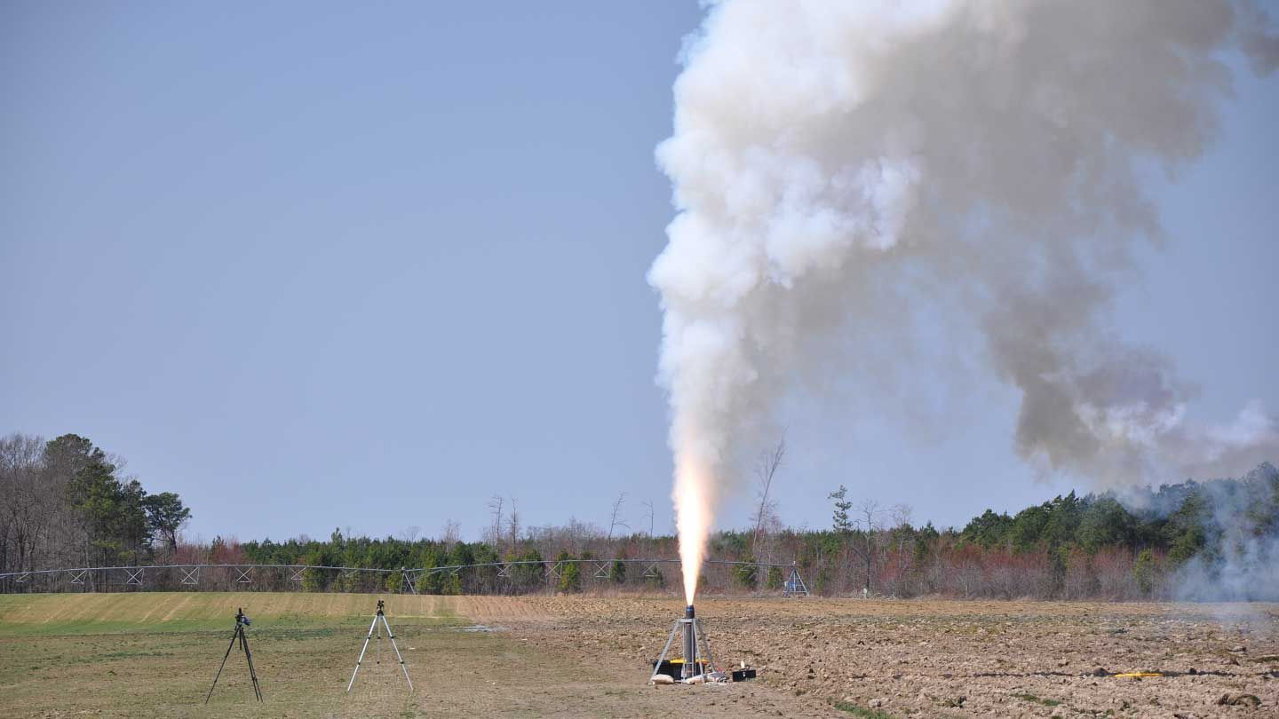 USLI-L2-Ground-Test-Firing