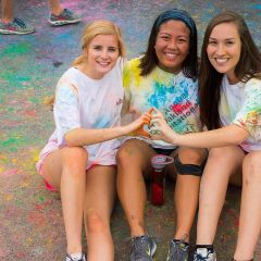 Participating in the AOII 5K Color Run at Greek Row - Michelle Ralleca - Madison, AL - Kinesiology